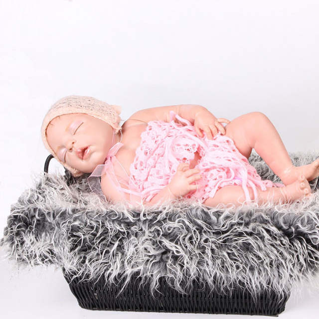 800962b7910 placeholder 50 50cm Fashion Newborn Baby Photo Props Outfit Photography Props  Infant Photo Wrap Fur Stretch