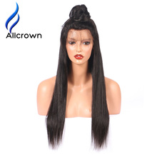 Alicrown Straight 4*4 Silk Base Lace Front Human Hair Wig For Black Women Brazilian Remy Hair Silk Base Wigs With Baby Hair