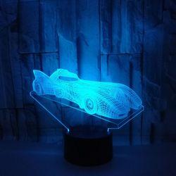 Samochód wyścigowy kolorowe 3d lampa pulpit dekoracji Deco u nas państwo lampy dotykowy pilot zdalnego sterowania 3d stolik nocny lampy dla pokoju gościnnego