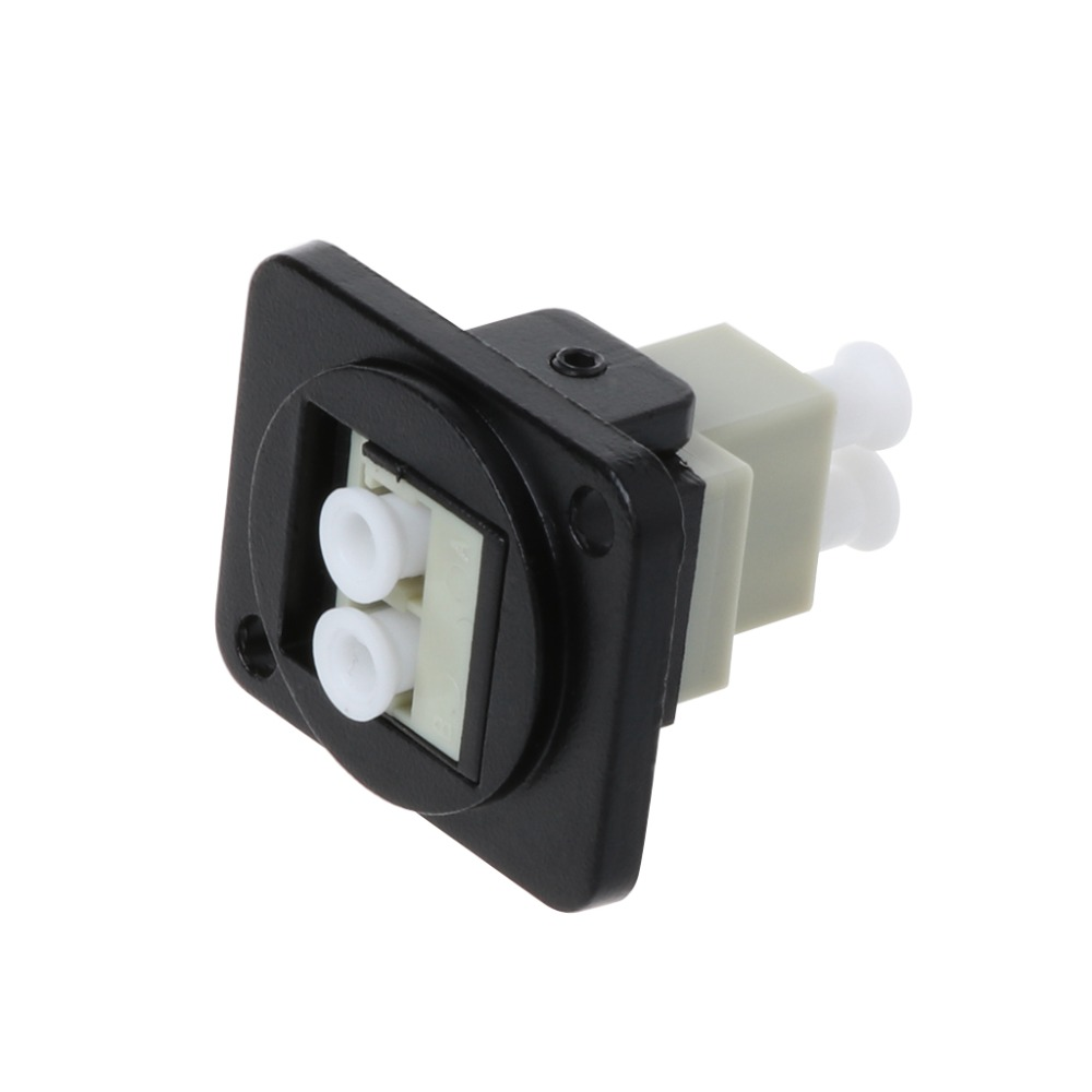 RJ45 D-Type LC Optical Fiber Straight Connector Chassis Panel Mounting Socket Holder Extension Jack-Modular CAT5E Adapter