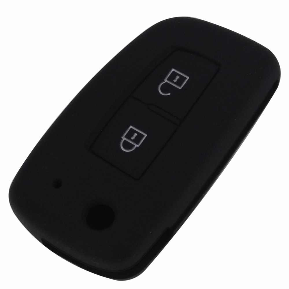 Jingyuqin 2 Knoppen Siliconen Fob Remote Key Case Cover Shell Voor Nissan Qashqai Sleutel Protector