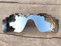 Cromo Espejo De Plata Polarizado Lentes de Repuesto Para Ventilación de la Trayectoria del Radar gafas de Sol de Marco 100% de Protección UVA y UVB