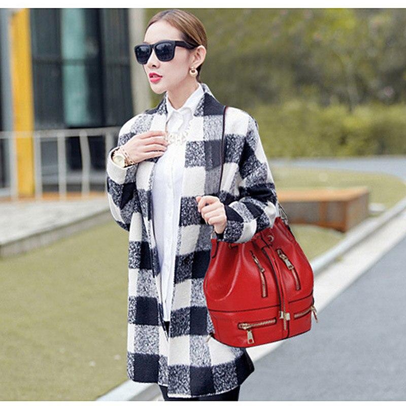 Blue En Cuir Messenger dark Red dark Une Épaule Sacs De Femmes Black purple Red Zency gray Sac Souple red Multifonctionnel Adolescents Véritable Vachette Bucekt TA5OwEq