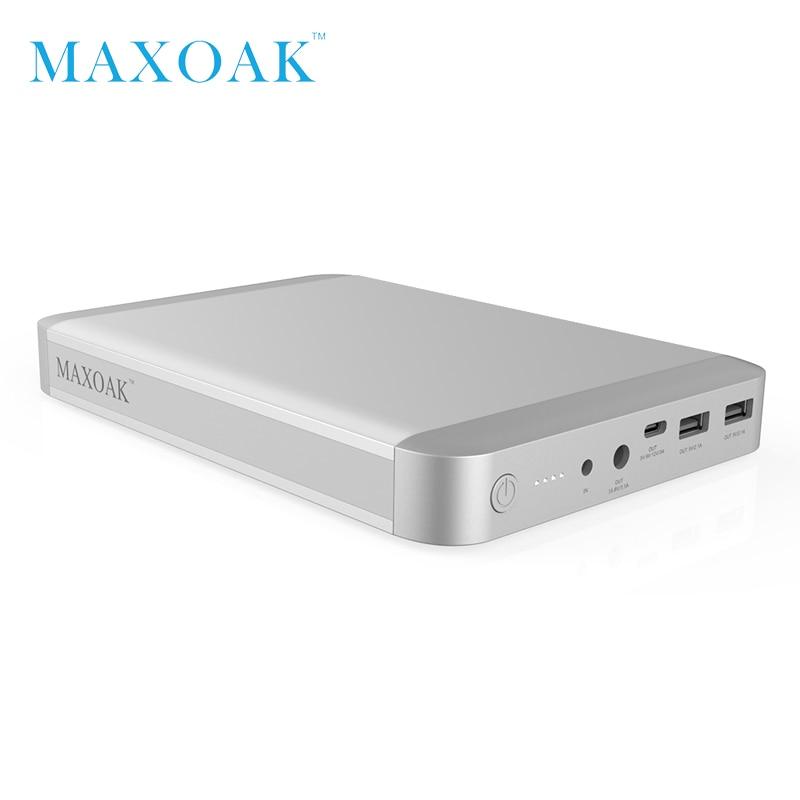 MAXOAK 36000 mah laptop Power Bank USB-C Typ-C (5/9/12 v) 3A port beste externe batter ladegerät für Macbook Ipad und smartphone