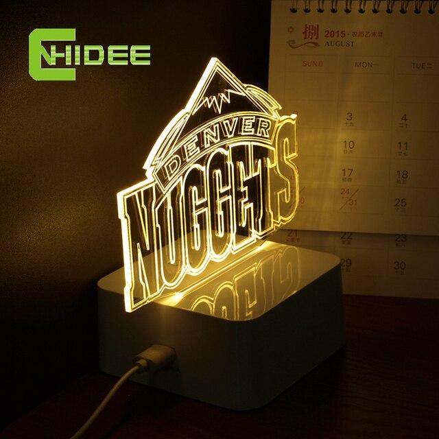 CNHidee USB Новинка 3D LED Ночные Огни для Баскетбольной Команды Сенсорный Затемнения Настольная Лампа в качестве Домашнего Декора