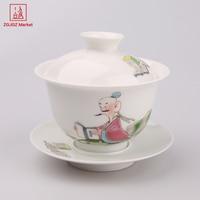 ZGJGZ Chinese Oude Keramiek Gaiwan Set Voedsel Cup Absolute handgeschilderde Cartoon Theekop Jingdezhen Porselein Thee Set
