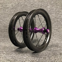 Contador 12inch pushbike Children BMX Balance Bike carbon wheels jant 3k glossy twill Replaceable hub color