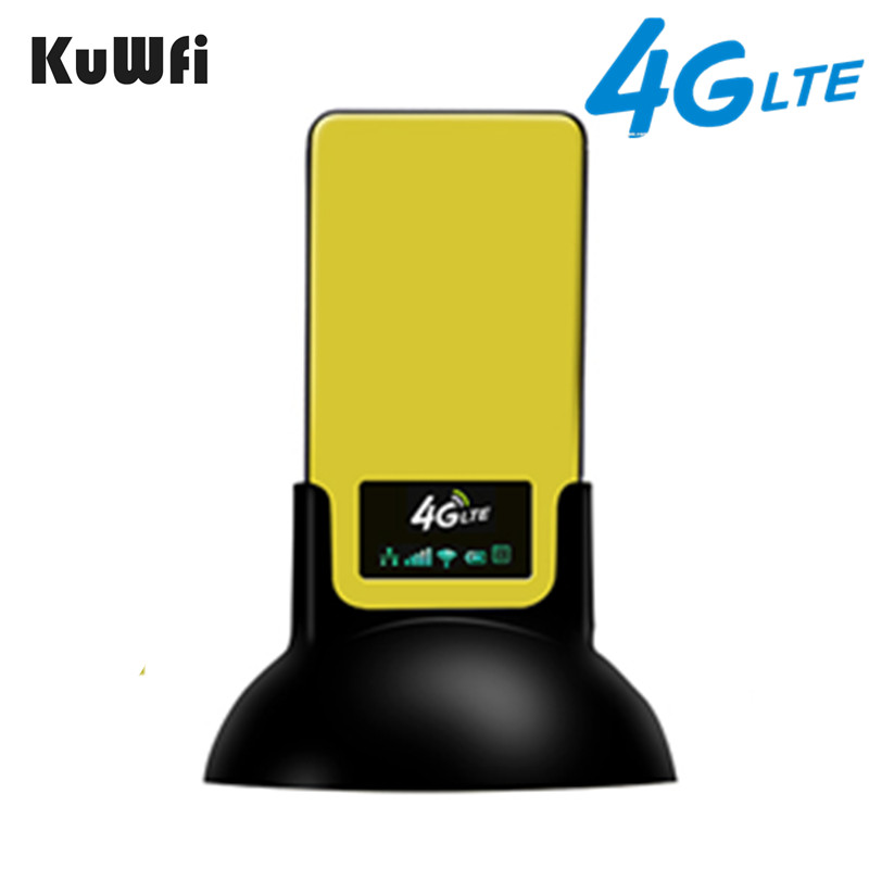 KuWfi 4G LTE CPE Router Protable Unlocked 3G 4G Indoor Wireless CPE Router with SIM Card