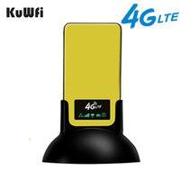 KuWfi 4G LTE CPE yönlendirici taşınabilir Unlocked 3G/4G kapalı kablosuz CPE SIM kartlı Router yuvası ve RJ45 port kablosuz erişim noktası router