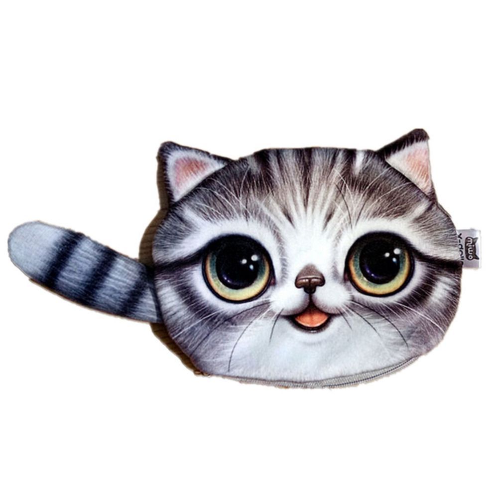 Luggage & Bags Coin Purses 1pcs Cat Coin Purse 3d Women Girl Wallet Bag Ladies Face Zipper Children Purse Animal Cartoon Lovely Phone Change Pocket With Traditional Methods