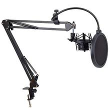 Buy Shockproof Clip Microphone Stand Microphone Stand Desktop Nb35 Live Cantilever Bracket Black directly from merchant!