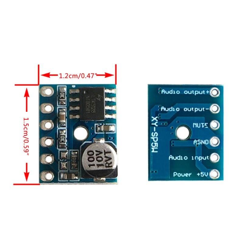 XY-SP5W 5128 Digital Amplifier Board Class D 5W Mono Audio Amplifier Module