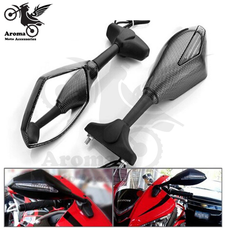 Free Shipping Motorcycle Rearview Mirror Led Turn Signal