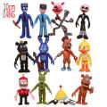 12Pcs/Set 5-11.5cm Five Nights At Freddy's figure FNAF Chica Bonnie Foxy Freddy Fazbear Bear Doll PVC Action Figures Toy
