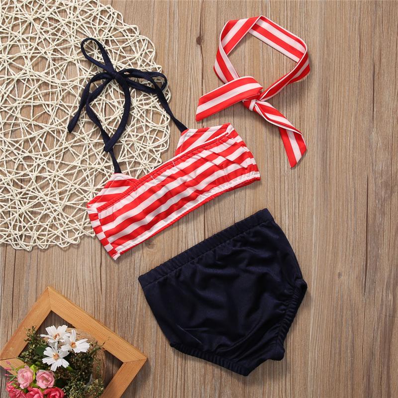 2017 Детский костюм бикини для маленьких девочек, морской купальный костюм, одежда для купания, купальный костюм, летняя пляжная одежда для де... 22