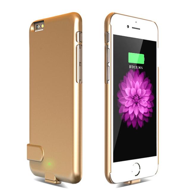 Portátil backup externo carregador de bateria power bank pacote case capa para iphone 6 6 s (4.7 polegada)