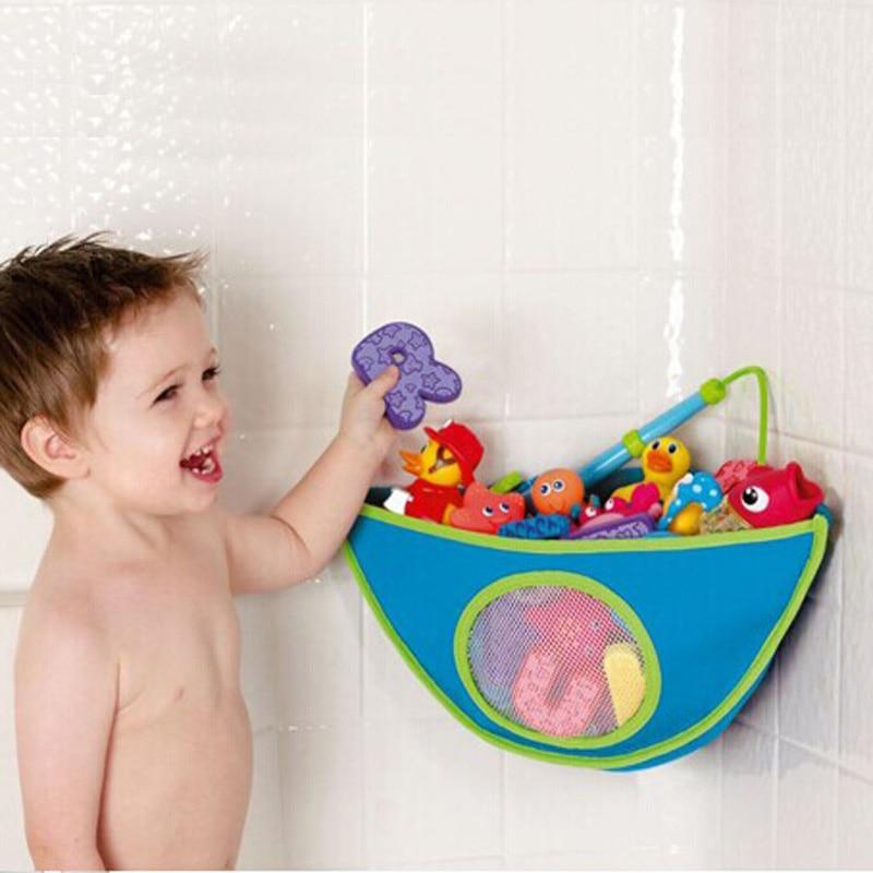 Children Bath Toys Organizer Storage Bin Baby Bathroom Bag Kids Bath ...