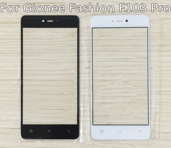 Black/White Touchscreen Sensor Touch Screen Digitizer For <font><b>Gionee</b></font> Fashion <font><b>F103</b></font> <font><b>Pro</b></font> Mobile Phone Touch Panel Glass/Just glass image