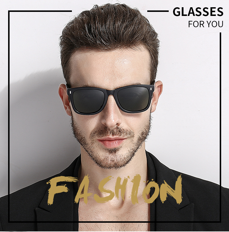 9d327c8f62258 Classic Polarized Men Sunglasses Women Brand Designer Square Acetate ...