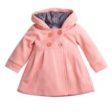 Г. Осенне-зимняя одежда для малышей Милая зимняя теплая шерстяная одежда для маленьких девочек пальто-бушлат Зимний комбинезон, куртка, верхняя одежда, одежда