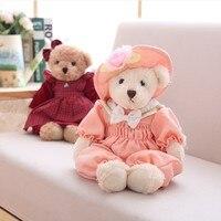 PUNIDAMAN High Quality Cuddy 40cm Teddy bear Wearing Skirt plush toys for girls gifts