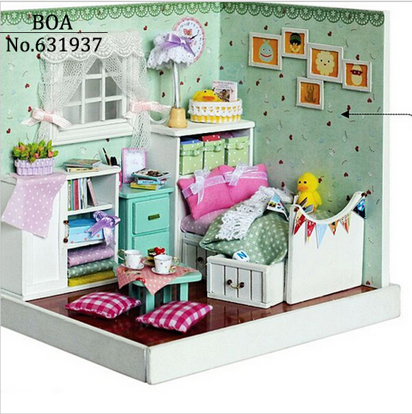 Diy Doll house Creative Model Building Kits 3D handmade Wooden Dollhouse Miniature Toy Christmas Gift The Wonderful Wizard of Oz