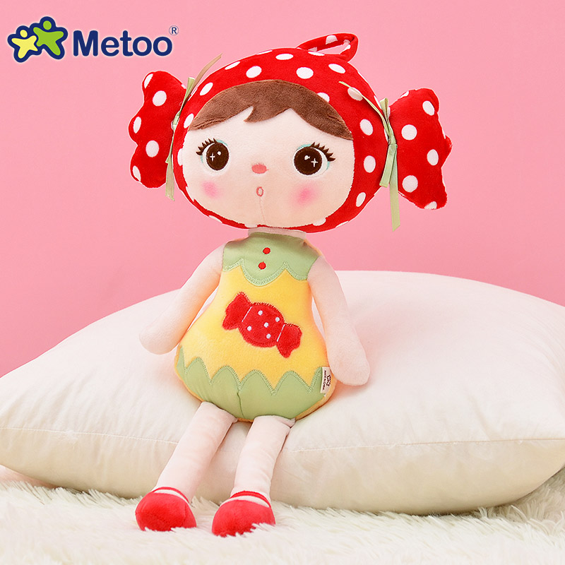 45cm Plush Sweet Cute Lovely Stuffed Baby Kids Toys for Girls Birthday Christmas Gift Cute Girl Keppel Baby Doll Metoo Doll mini kawaii plush stuffed animal cartoon kids toys for girls children baby birthday christmas gift angela rabbit metoo doll