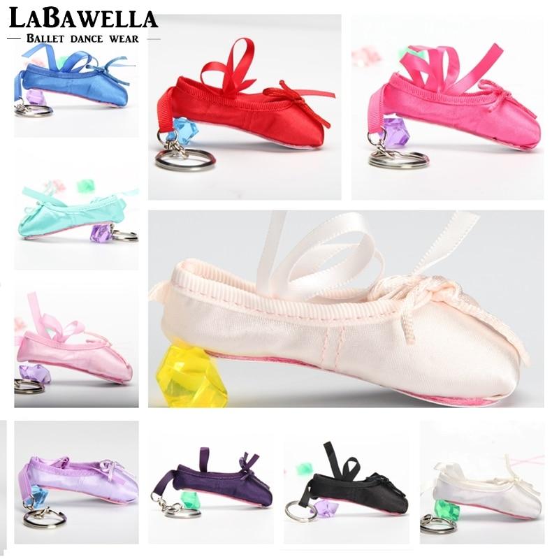 Kids Ballerina Mini Ballet Shoe Ballet Keychain  Gift Satin Pointe Shoes Key Ring Pink Dance Shoes Ballet Bag Charm Chain DT009