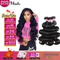Meetu Brazilian Body Wave Hair Bundles 100% Human Hair Brazilian Hair Weave Bundles Natural Color Non Remy 1/3/4 Bundles Deals