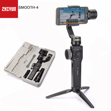 Zhiyun Smooth 4 3-Axis Focus Capability Handheld Gimbal Stabilizer for Smartphone Samsung Galaxy Gopro Gimbals & Mini Tripods