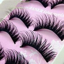 5Pair Thick Fake Eyelashes Natural False Volume Lashes Artificial Extensions Makeup