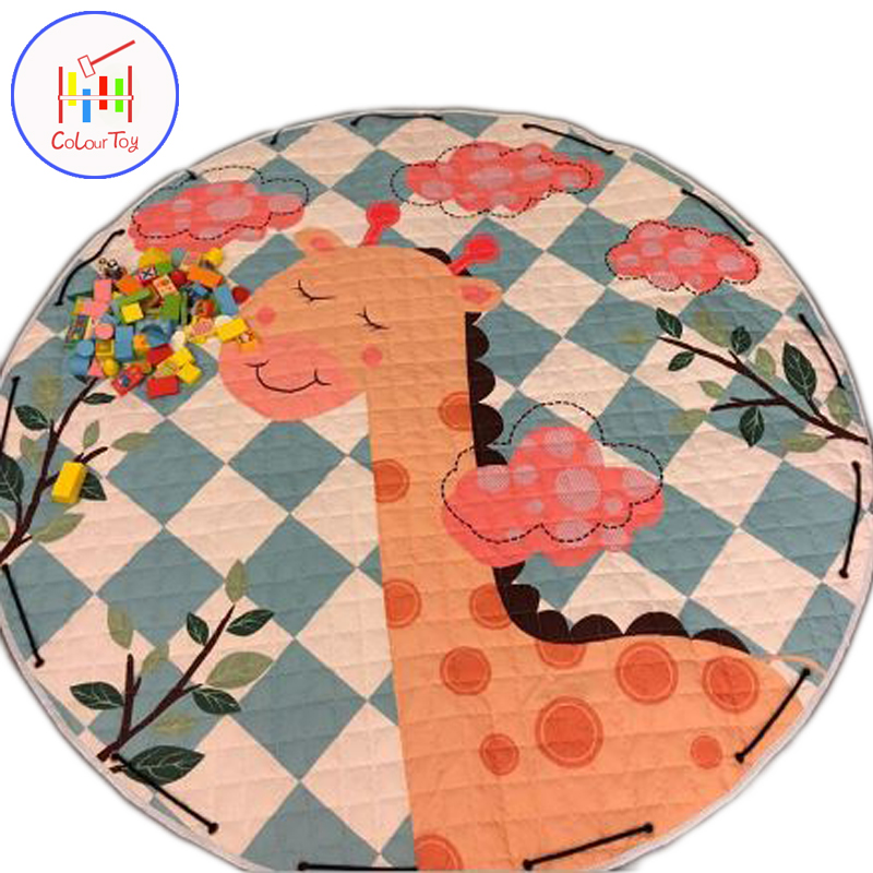 Radius 150CM Kids Play Game Mats Round Carpet Rugs Mat Cartoon Soft Baby Carpet Rug Bedding Room Decoration INS Baby Gifts