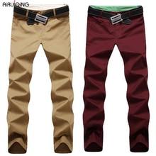 New Fashion men pants cotton washed casual pants men straight trousers 9 colors plus size 28