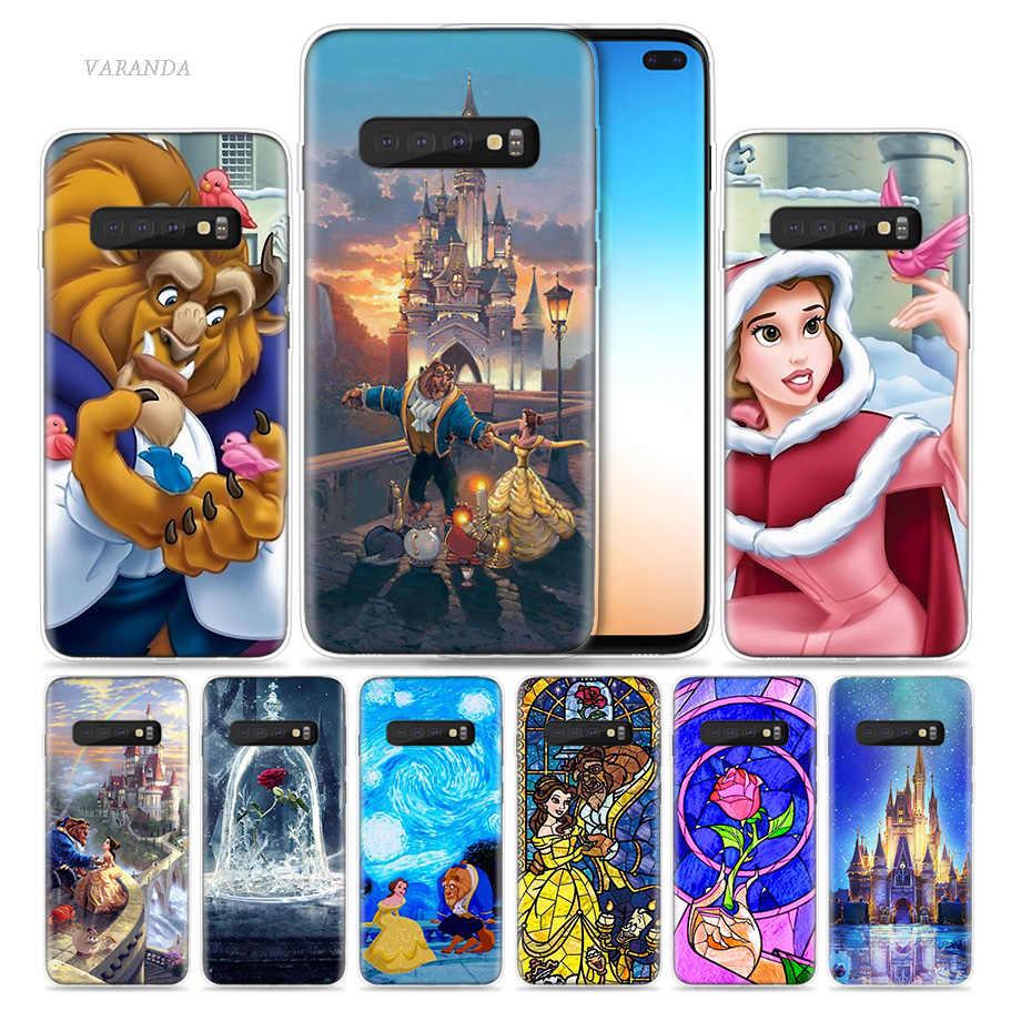 Beleza e besta caso para samsung galaxy s10 s20 ultra 5g s10e s8 s9 plus s7 nota 8 9 10 lite silicone luxo sacos de telefone