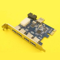 USB 3.0 PCI E pcie pci express PCI 7 Port 5Gbps Super Speed Express Card Adapter 5Port + 20