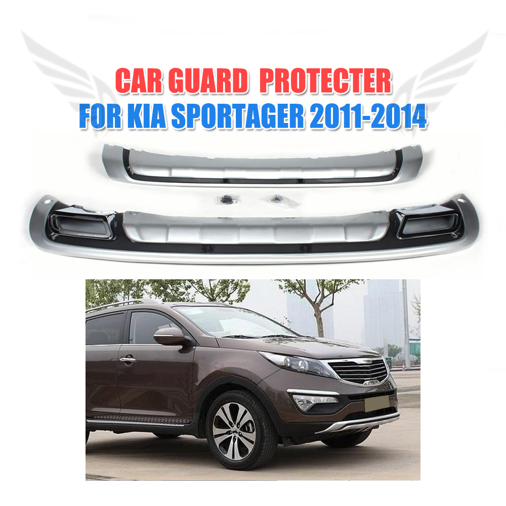 Pp car front rear protective plate auto bumper guard fit for kia sportage 2011 2012 2013
