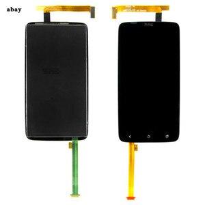 Image 2 - 4.7 עבור HTC אחד X S720e LCD חיישן מגע S720e מסך Digitizer הרכבה מלאה עבור HTC S720e תצוגה שחור עם/ללא מסגרת