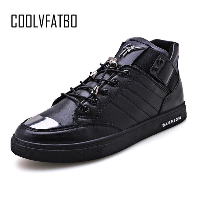 COOLVFATBO/Мужская Вулканизированная обувь, однотонные, неглубокие, на шнуровке, дизайнерские кроссовки для студентов, хлопковая ткань, увеличи...