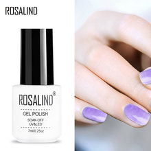 ROSALIND Gel 1S New Blossom Clear Nail Polish For DIY Nail Art Need Colorful Painting gel and TOP BASE Coat Gel Nail Polish(China)