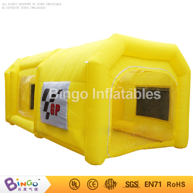 все цены на Free shipping 6m yellow inflatable spray booth inflatable car paint booth tent custom inflatable spray tent BG-A0839 toy tent онлайн