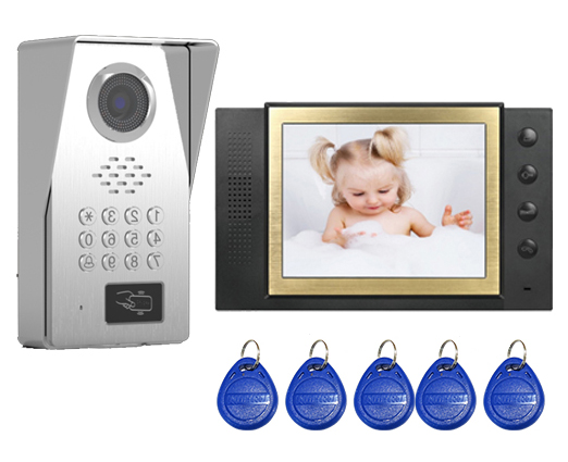 SMTVDP New Style TFT LCD Color 8Video Door Phone Doorbell IR Intercom Home Security Video System FRID Camera 1Camera+1Monitor