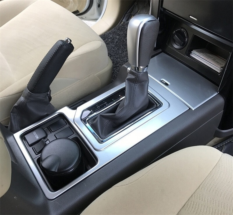 For 2010-<font><b>2016</b></font> <font><b>Toyota</b></font> Land Cruiser <font><b>Prado</b></font> FJ 150 ABS Gear Shift Box Panel Trim Gear Shift Head Cover Frame Car Styling <font><b>Accessories</b></font> image