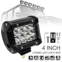 4 дюймов 36 Вт 5500LM модифицированный автомобиль светодиодный свет работы с тремя рядами лампа Spot Worklight панелей для бездорожья ATV грузовик внедорожник Грузовик
