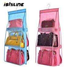 6 Карманный подвесной мешок Органайзер шкаф прозрачная сумка для хранения для сумки шкаф для обуви Органайзер для двери настенный мешочек для мелочей