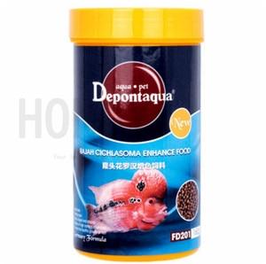 Depontaqua 1 piece tropical fish feed super humpy and color enhanced food for flowerhorn fish rajah cichlasoma enhance food