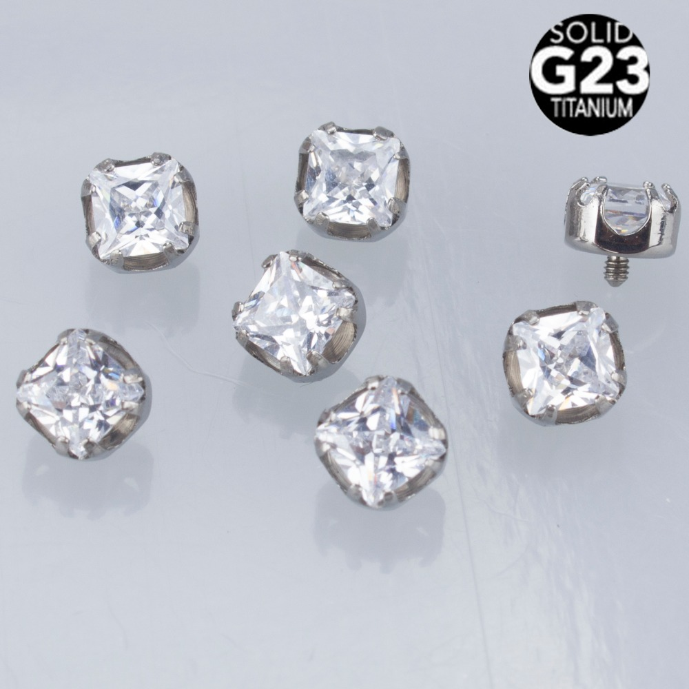 Square Zircon 12mm Threaded...