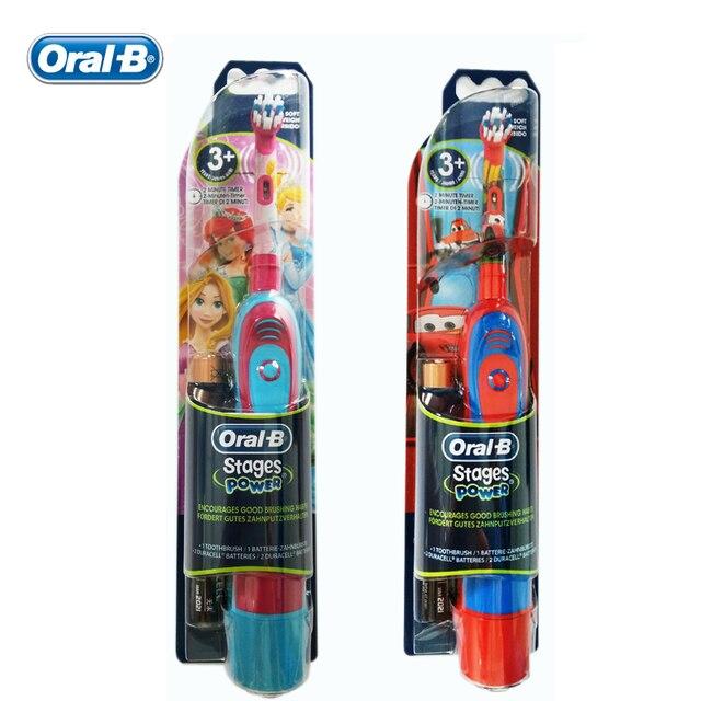 Los Niños cepillo de Dientes Eléctrico Oral B DB4510K AA batería Serie Boys  + Girls Oral 5275998f5f3f
