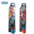 Oral B DB4510K Дети Электрическая Зубная Щетка батареи AA Гигиены Полости Рта Dental Care Серии Мальчики + Девочки Батареи Зубная Щетка Двойной пакет