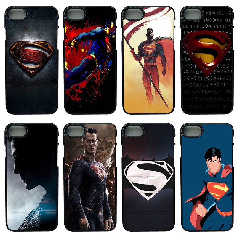 Marvel Hero Superman Shell Hard PC Plastic Cover for iphone 8 7 6 6S PLUS X 5S 5C 5 SE iPod Touch 4 5 6 Superman Cell Phone Case
