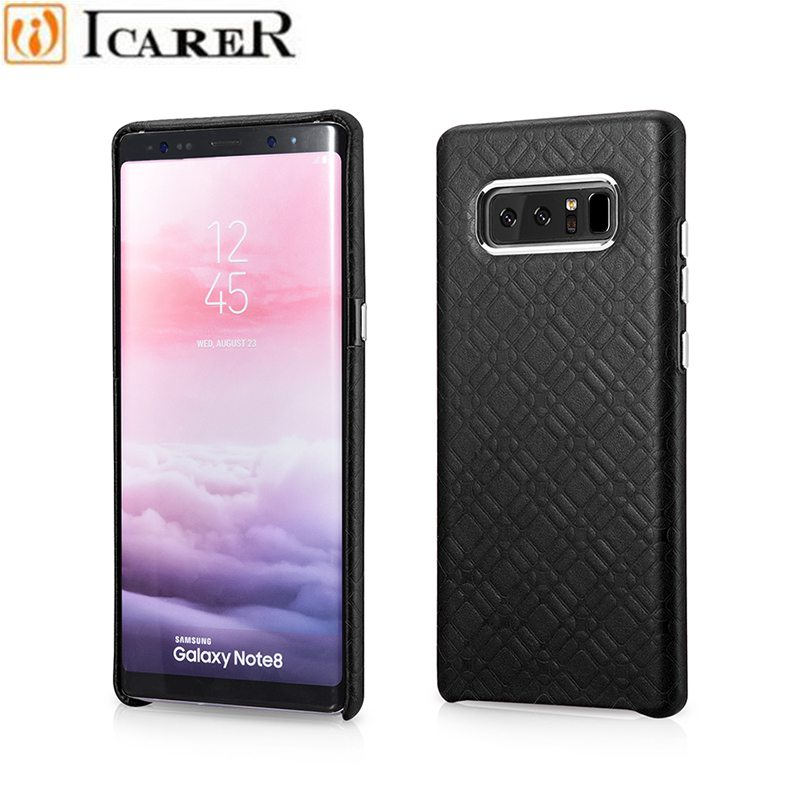 iCarer For Galaxy Note 8 Case,Luxury Ultra Thin Genuine Leather Case for Samsung Galaxy Note 8 Note8 Phone Capa Para Coque